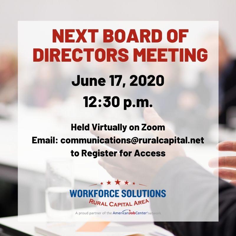WSRCA Board Meeting June 17