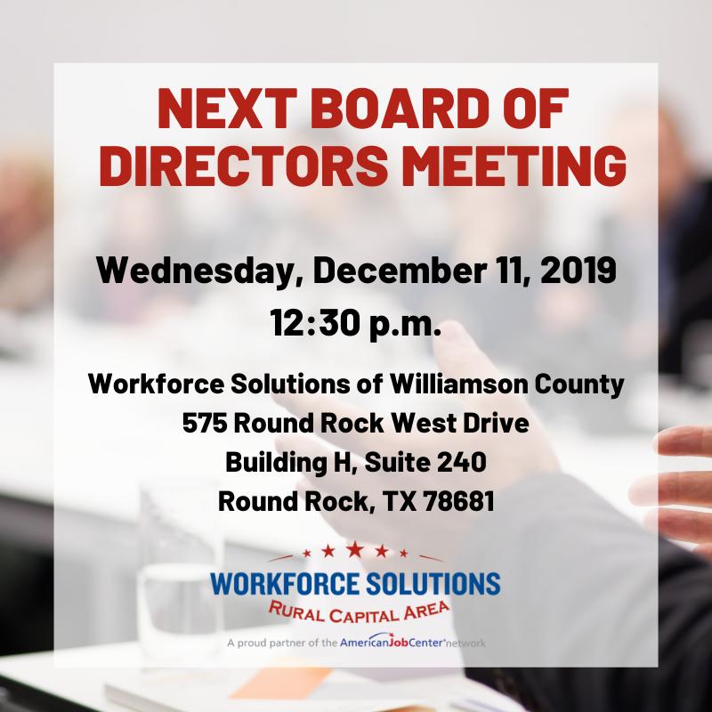 WSRCA December 2019 Board Meeting