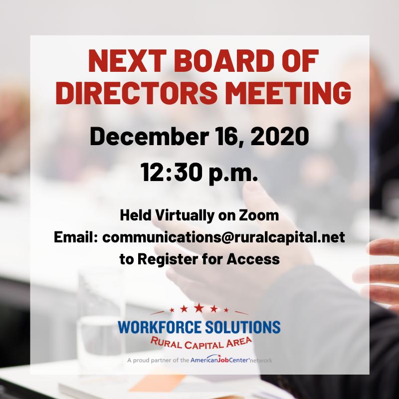 WSRCA Board of Directors Meeting