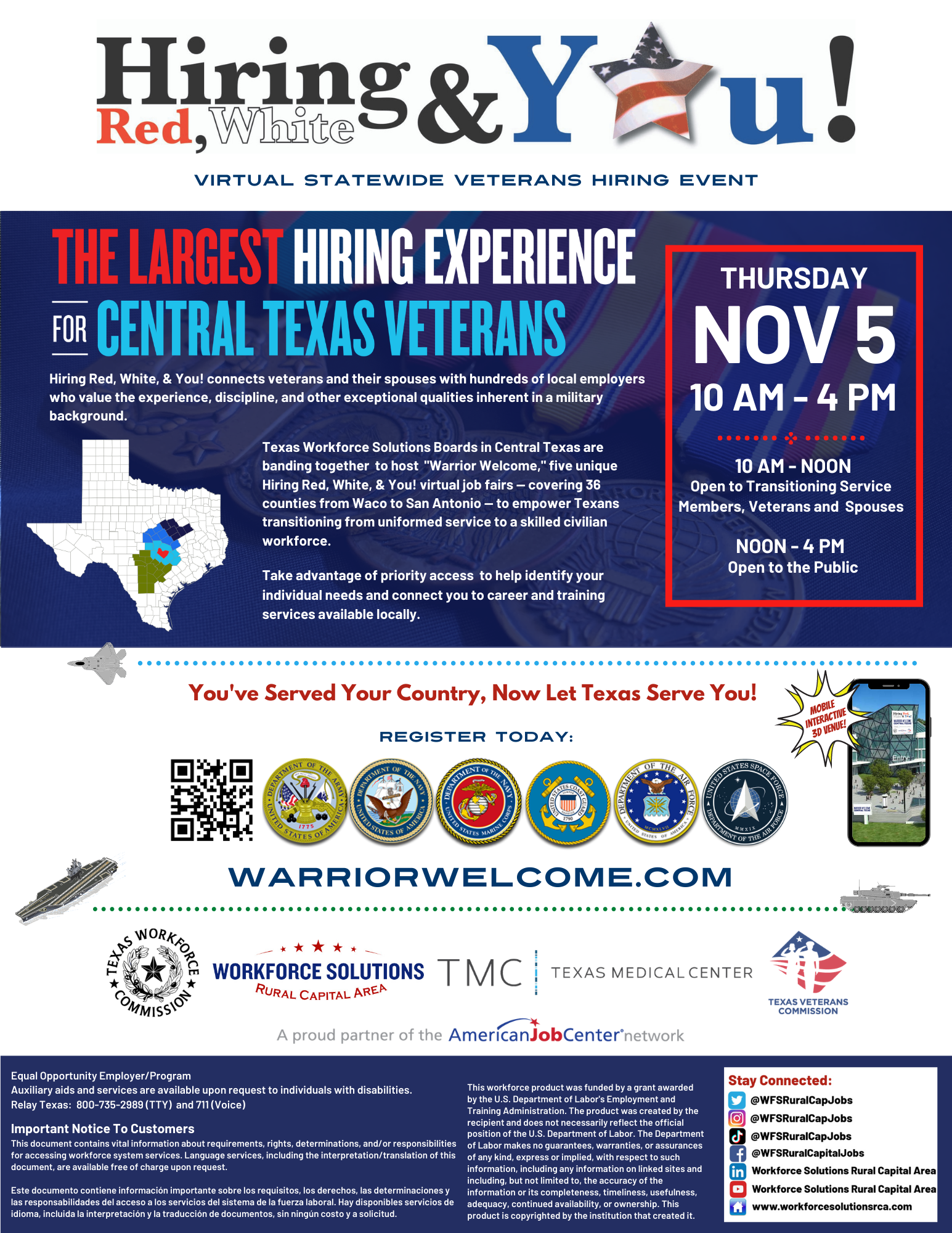 Hiring Red White and You Warrior Welcome Central Texas