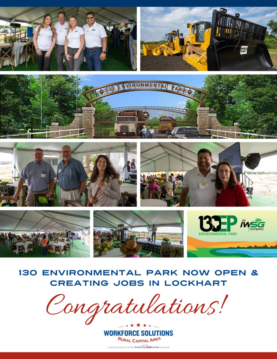 WSRCA Team Takes Part in Grand Opening of State-of-the-Art 130 Environmental Park in Lockhart