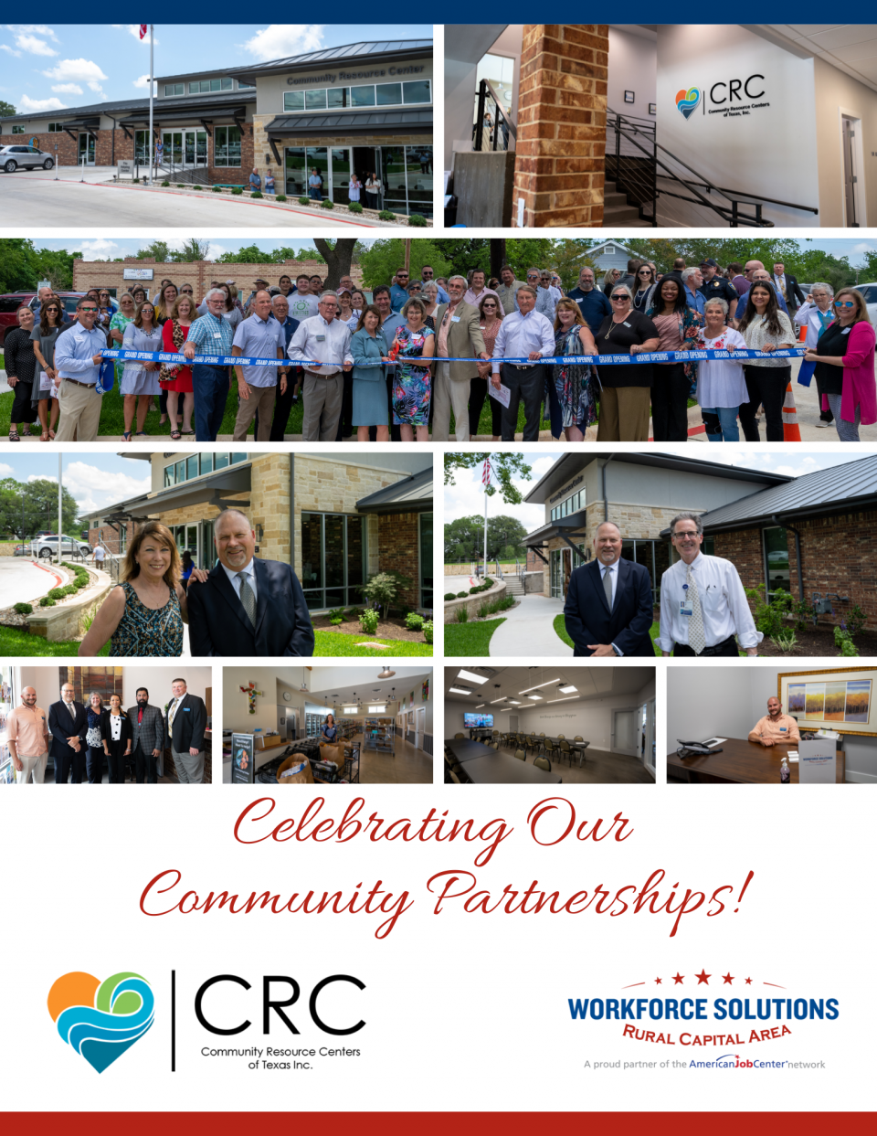 Community Resource Centers of Texas Opens Newly Renovated Marble Falls Office; WSRCA Team Helps Celebrate Grand Opening