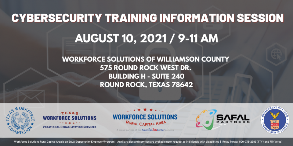 Cybersecurity Training Information Session for Employers