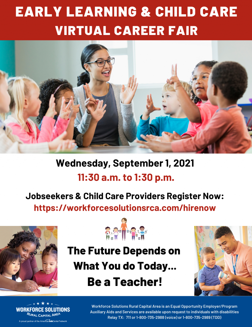 Be a Teacher! Don't Miss the Early Learning & Child Care Virtual Career Fair on September 1