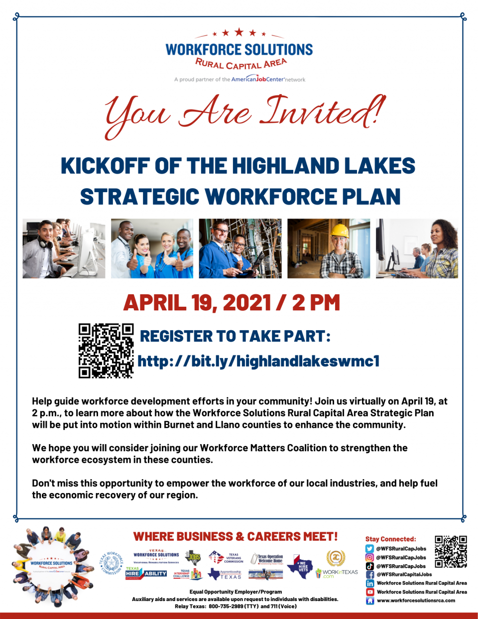 Celebrate the Kickoff of the Highland Lakes Strategic Workforce Plan