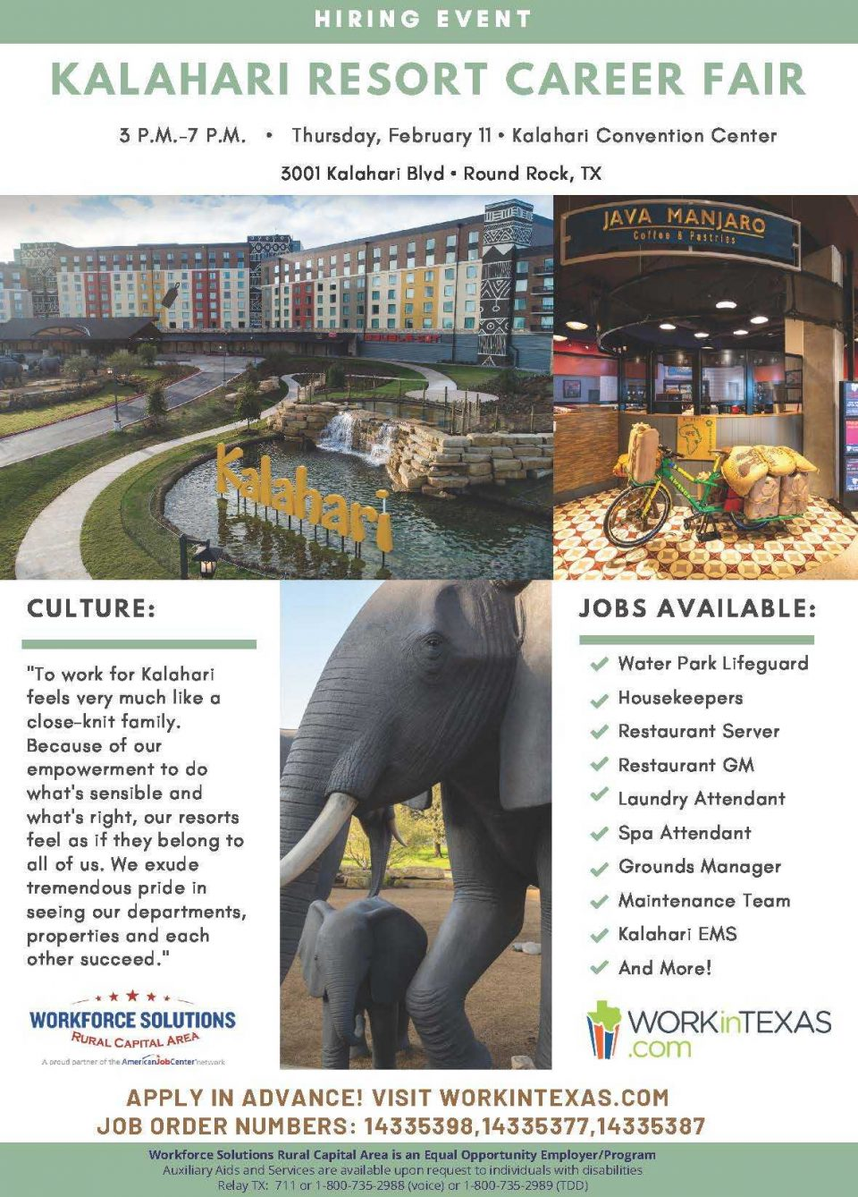 Kalahari Resorts Hosting Hiring Event on Feb. 11: Join the Team Operating the Largest Water Park in the Country