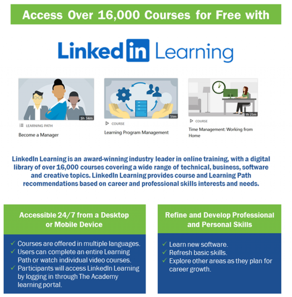 Over 16,000 LinkedIn Learning Virtual Courses Available Free for Texans