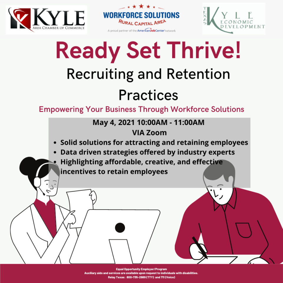 WSRCA Joins with City of Kyle Economic Development, Chamber to Host 'Ready. Set. Thrive!' Employer Webinar on May 4