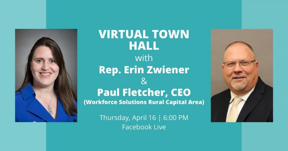 WSRCA CEO Paul Fletcher to Join Texas State Rep. Erin Zwiener for Virtual Town Hall