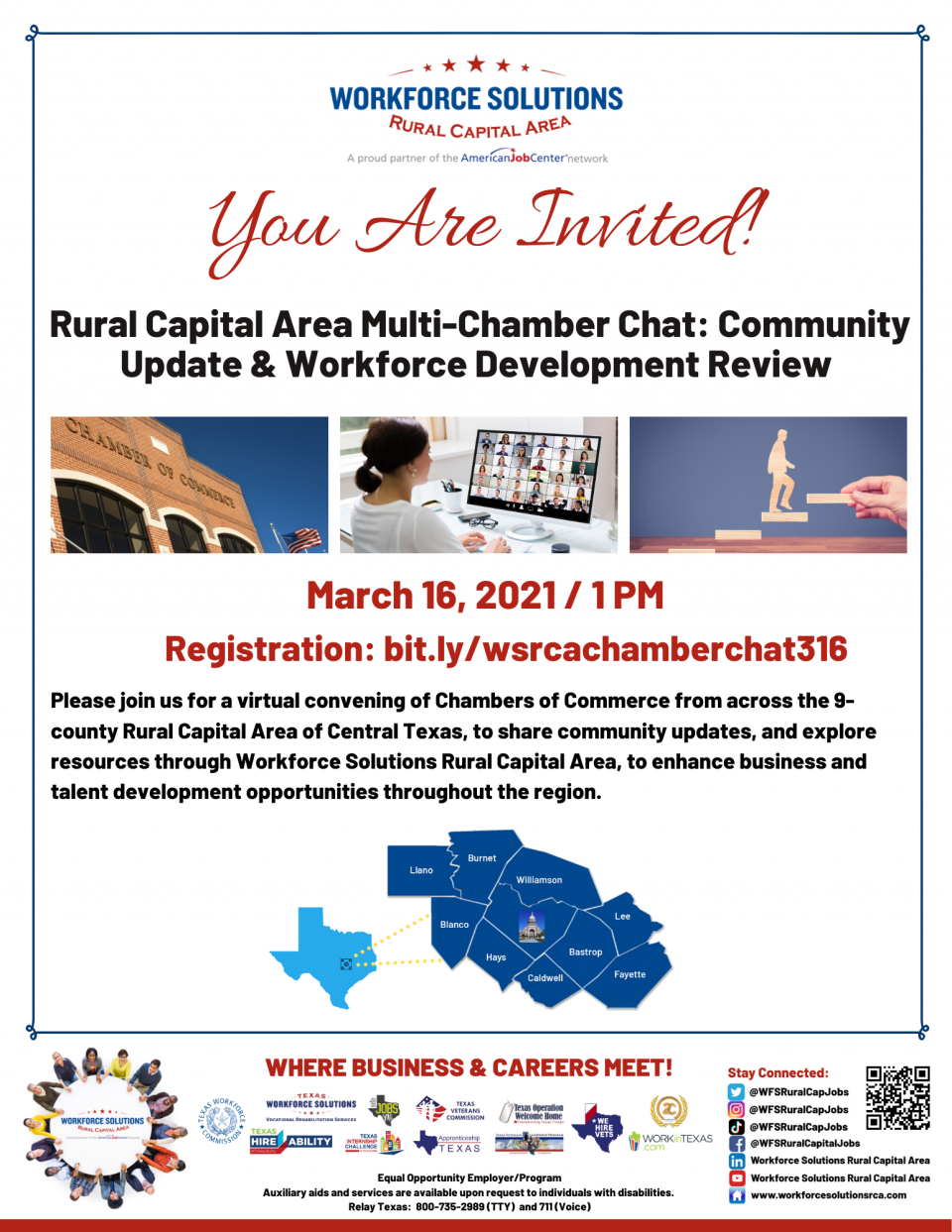 Workforce Solutions Rural Capital Area to Host Multi-Chamber Chat