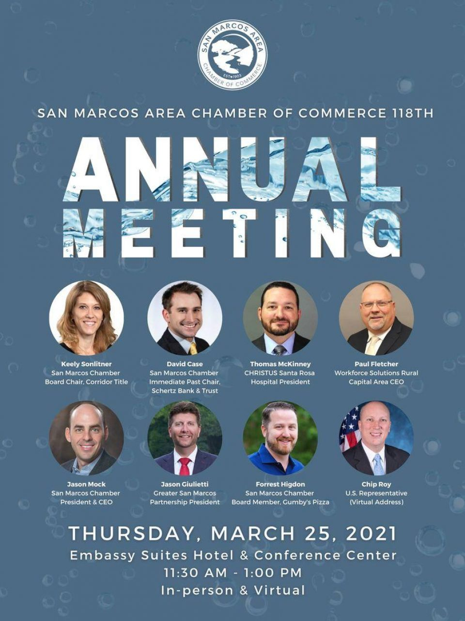 WSRCA to Take Part in San Marcos Area Chamber's Annual Meeting on March 25
