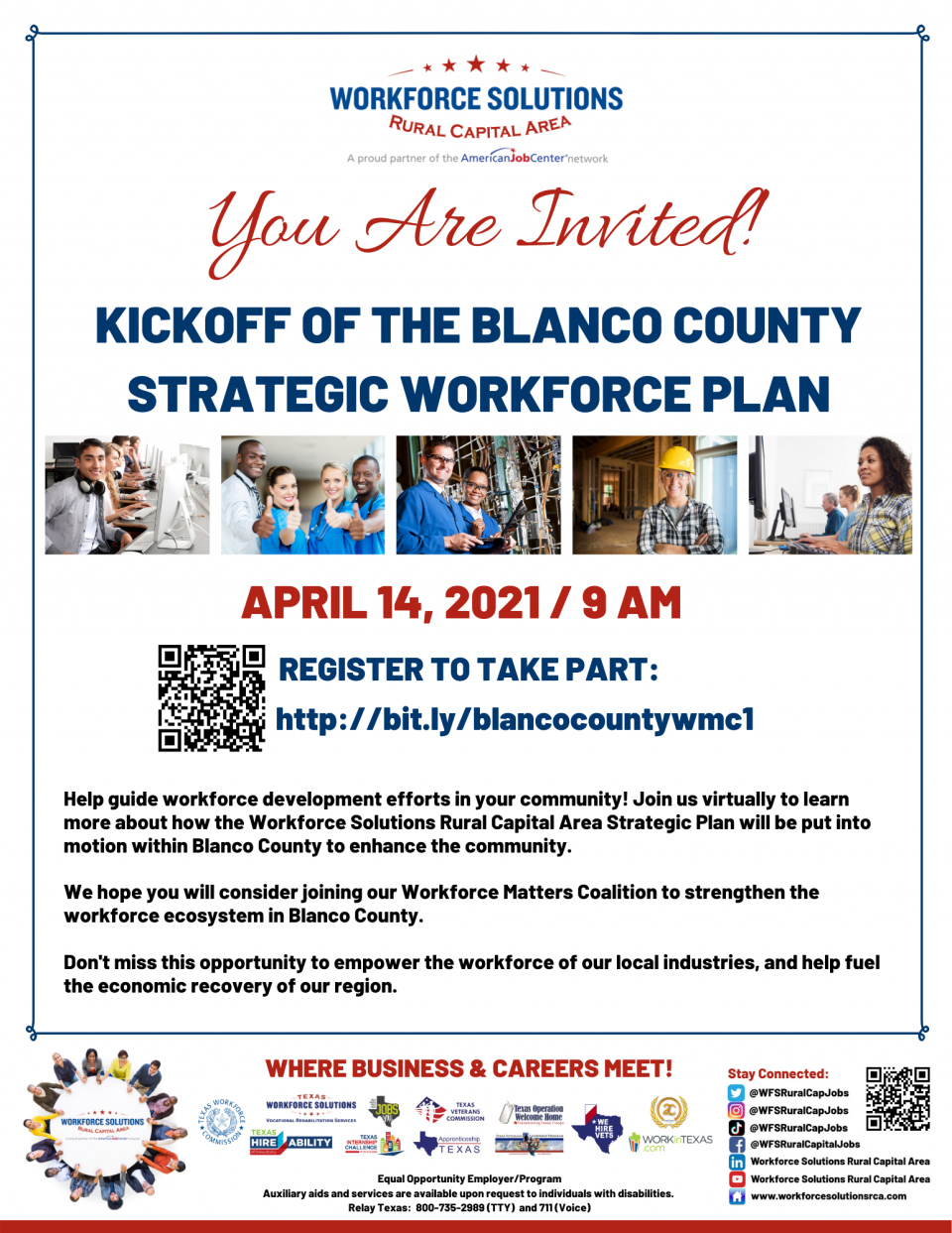 Celebrate the Kickoff of the Blanco County Strategic Workforce Plan