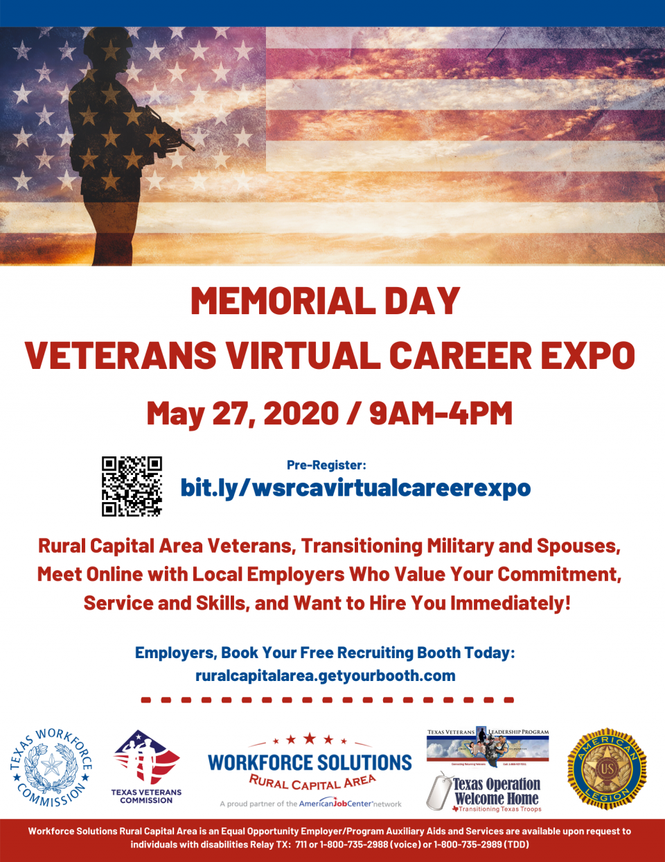 Central Texas Military Families Encouraged to Take Part in Memorial Day Veterans Virtual Career Expo on May 27